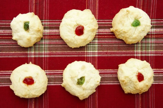 Christmas Cookies on Tablecloth