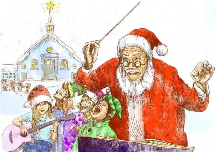 Santa Claus as conductor
