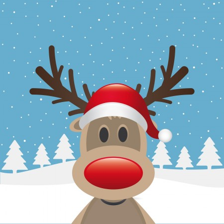 bigstock-Reindeer-Red-Nose-Santa-Claus--37449694