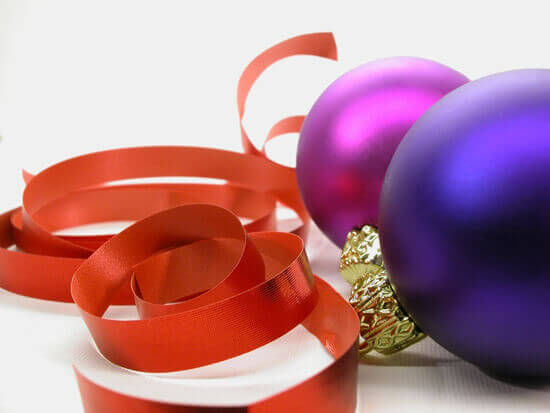 Ornaments with Ribbons