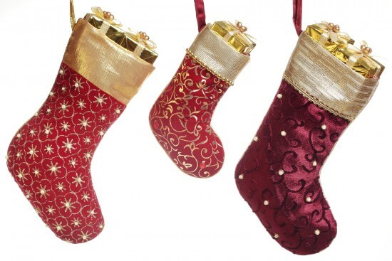 Christmas stocking with gift