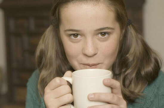 Girl with Hot Cocoa