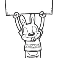 Thumbnail image for Bunny With Sign