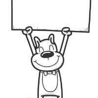 Thumbnail image for Doggy With Sign