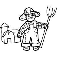 Thumbnail image for Farmer in Overalls