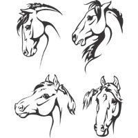 Thumbnail image for Four Horse Heads