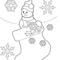 Frosty Stocking Coloring Pages Surfnetkids
