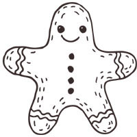 Thumbnail image for Gingerbread Man Cookie
