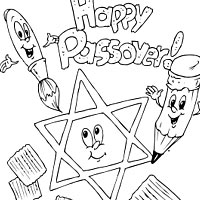 Thumbnail image for Happy Passover Coloring