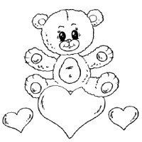 Thumbnail image for Bear on Heart Card