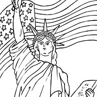 Thumbnail image for Lady Liberty and Flag