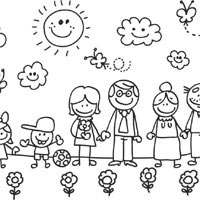 My Family 187 Coloring Pages 187 Surfnetkids