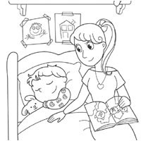 bedtime coloring pages surfnetkids