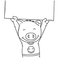 Pig With Sign
