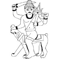 Shiva With Dog