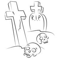 Thumbnail image for Skulls In Cemetery