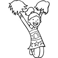 Spirited Cheerleader