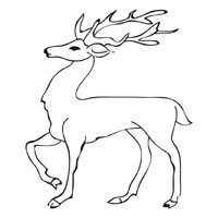 Standing Stag