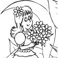 Thumbellina With Bouquet