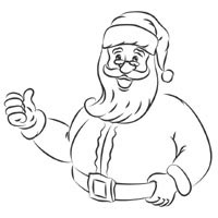Thumbnail image for Thumbs Up Santa