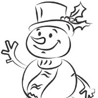 Thumbnail image for Snowman In Scarf