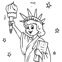 Statue Of Liberty Face Coloring Page