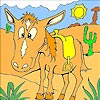 Horse in the Desert Coloring