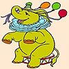 Elephant in the Circus Coloring