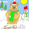Snowman and Big Bear Coloring