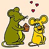 Valentine Mice Coloring