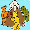 Four Bears on a Beach Coloring