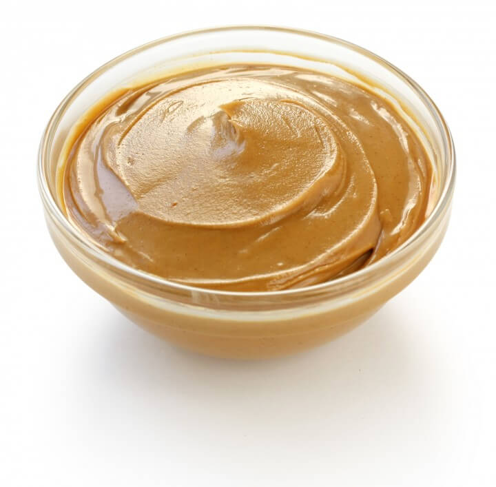 peanut butter on a white background