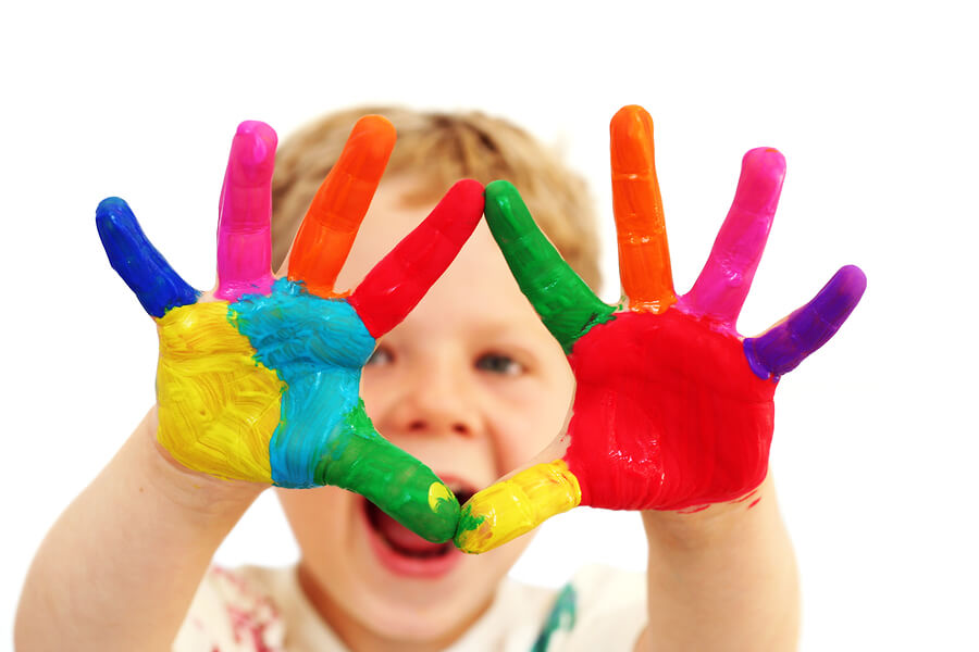 Trace or Paint Fingers and Hands