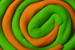 Green and Orange Clay