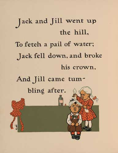 Jack And Jill Went Up The Hill Ilrated By W