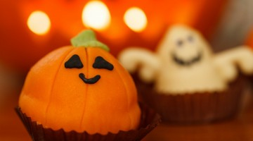 Painted Pumpkin Faces and Lollipop Ghosts