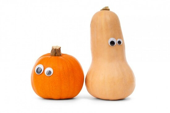 Gourds with Googly Eyes