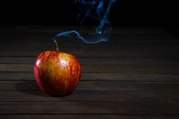 Apple with Wick