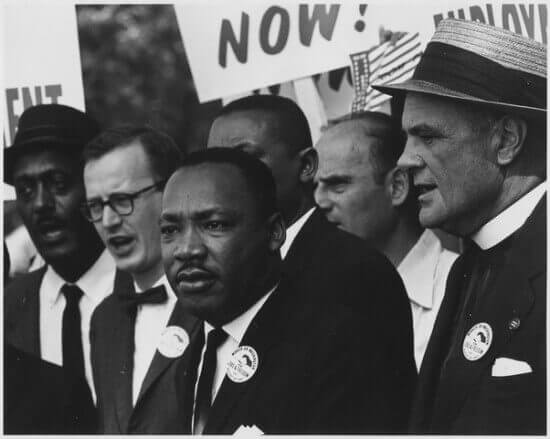King at a Civils Rights March in Washington, D.C.