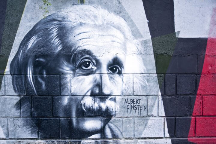 Albert Einstein Graffiti Portrait