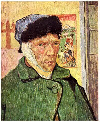 Vincent Van Gogh, Self-Portrait with Bandaged Ear