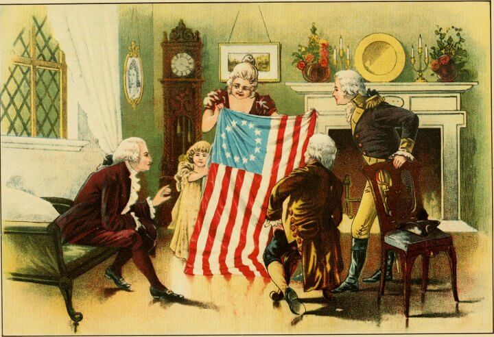 Betsy Ross And Flag