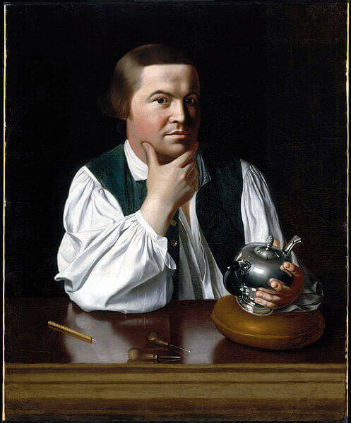 Portrait of Paul Revere, by John Singleton Copley,  c. 1768–70