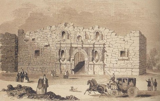 The Alamo, as drawn in 1854.