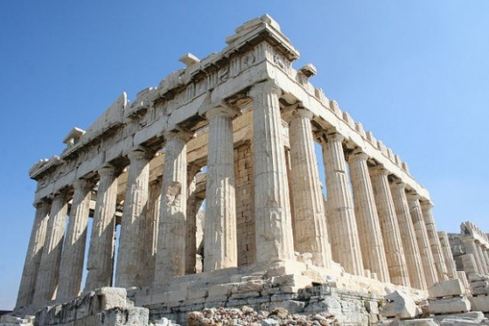 The Parthenon, as it looks today.