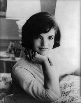 "Jaqueline ""Jackie"" Kennedy, First Lady and fashion icon."