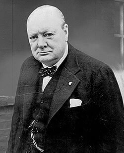 Winston Churchill, famed orator and Prime Minister of the United Kingdom during World War II.