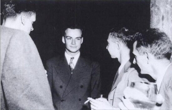 Richard Feynman and Robert Oppenheimer