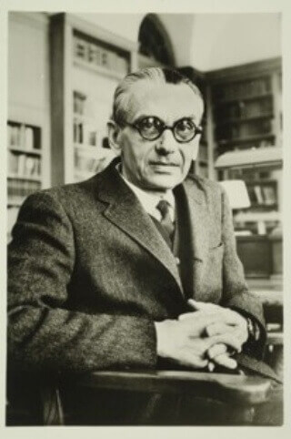 Kurt Gödel, logician, mathematician & philosopher.