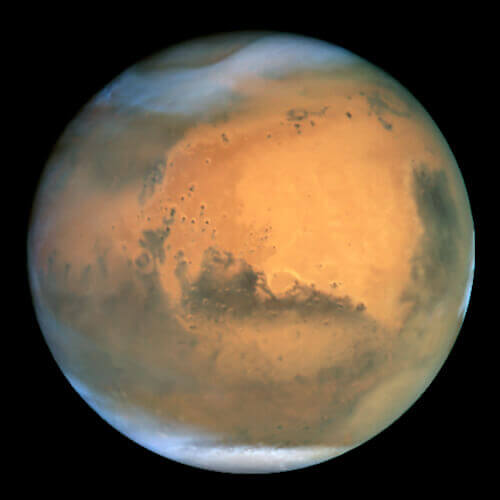 Mars, as seen from the Hubble Telescope